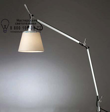 TOLOMEO BASCULANTE серый с креплением, настольная лампа Artemide 0947020A A004200