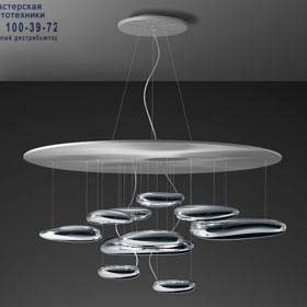 Artemide 1397110A подвесной светильник MERCURY SOSPENSIONE halo из нержавеющей стали