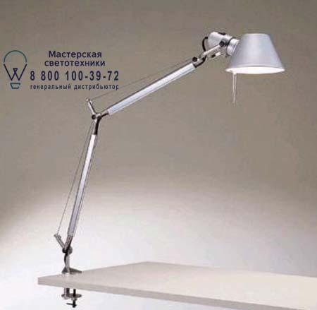 TOLOMEO алюминий со струбциной, настольная лампа Artemide A001000 A004100