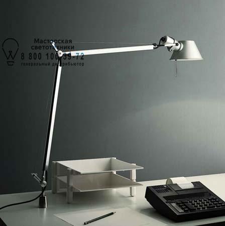 Artemide A001100 A004200 настольная лампа TOLOMEO полированный алюминий с креплением