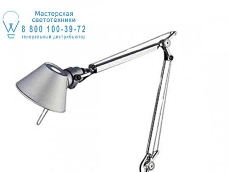 TOLOMEO MICRO LED алюминий со струбциной, настольная лампа Artemide A010300 A004200