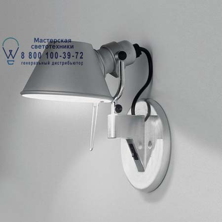 Artemide A043600 бра TOLOMEO MICRO FARETTO LED алюминий с диммером