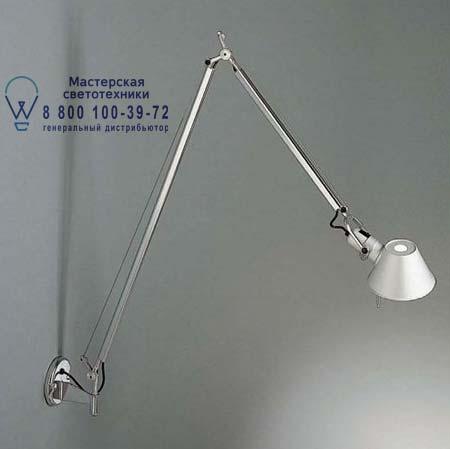 TOLOMEO BRACCIO PARETE LED алюминий с выкл., бра Artemide A046000