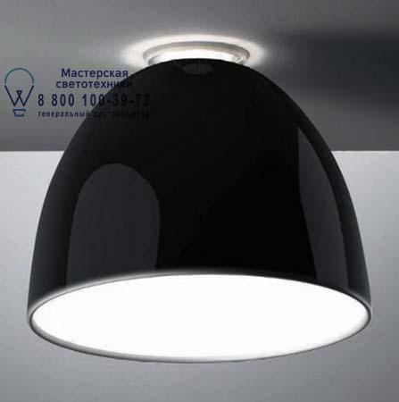 NUR GLOSS SOFFITTO FLUO глянцевый черный, потолочный светильник Artemide A245310