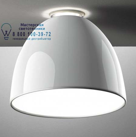 Artemide A245600 потолочный светильник NUR MINI GLOSS SOFFITTO FLUO глянцевый белый