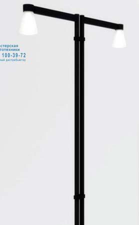 TIMPONE 2 консольных 100W E40, крепление двухстороннее, уличный светильник Artemide T019300 T019