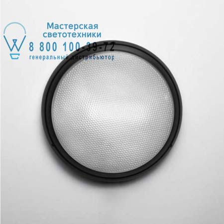 PANTAREI 390 OUTDOOR черный поликарбонат, люмин. 26W, потолочная люстра Artemide T272130