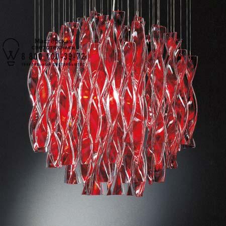 AURA 60 красный, потолочный светильник Axo Light PLAURA60RSCRE27