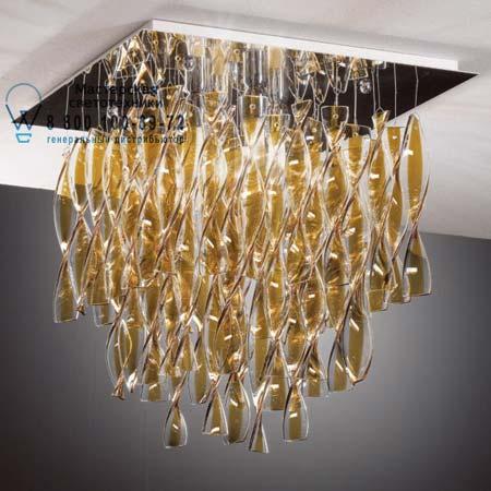 AURA 65 75 x 75 чайный цвет, потолочный светильник Axo Light PLAURAGRTACRE27