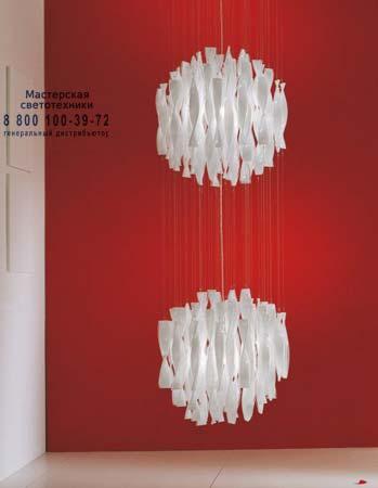 """Axo Light SPAU45/2CSORE27 подвесной светильник AURA 45/2 муранское стекло """"rigadin"""" с золотой фо"""