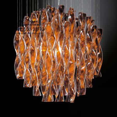 AURA 45 оранжевый с золотой фольгой, подвесной светильник Axo Light SPAURA45ARORE27