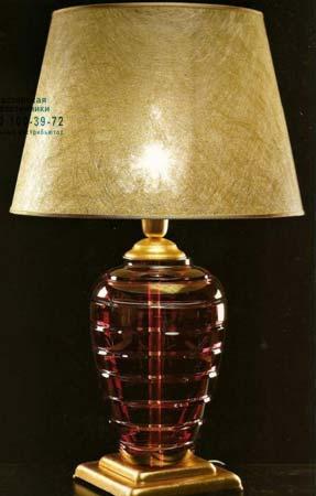 A1-109 с большой красной вазой в основании, настольная лампа Badari A1-109