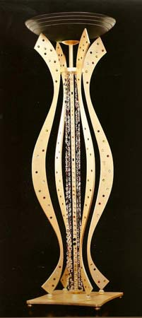 Badari B1-10004-01 торшер B1-10004-01 MANHATTAN черно-золотой