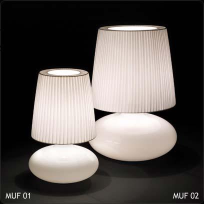 Bover 2215522 настольная лампа MUF-02 2215522 Матовое стекло-хром