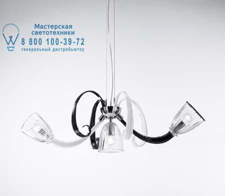 De Majo 4400 K3 черное - молочно-белое - прозрачное стекло 044000K05
