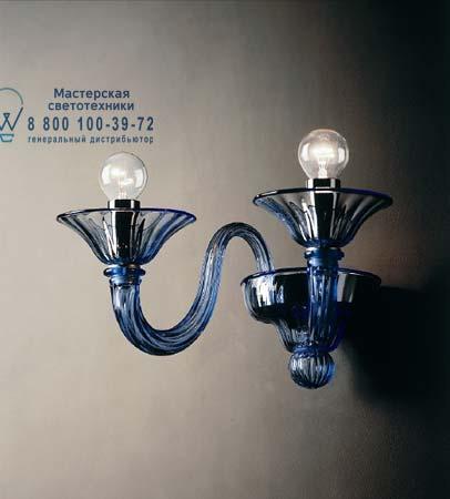 7079 A3 дымчатое стекло с синей оправой, бра De Majo 070790A34