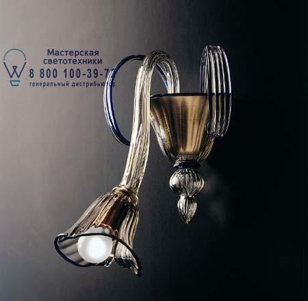 070850A12 De Majo 7085 A1 дымчатое стекло с синими украшениями