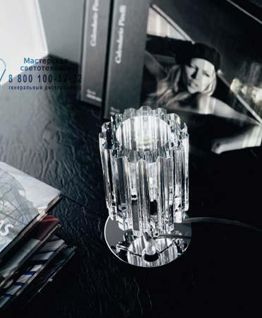 CHARLOTTE L1 хром, настольная лампа De Majo 0CHAR0L10