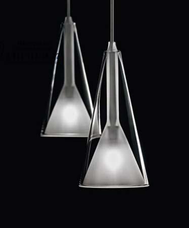 LOLLI S3D прозрачно матовое стекло, подвесной светильник De Majo 0LOLL0S13