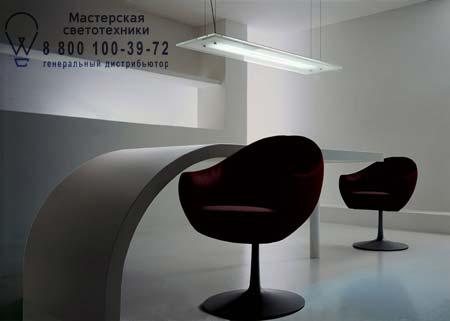 QUADRA S110 серый прозрачный, подвесной светильник De Majo 0QUAD0S11