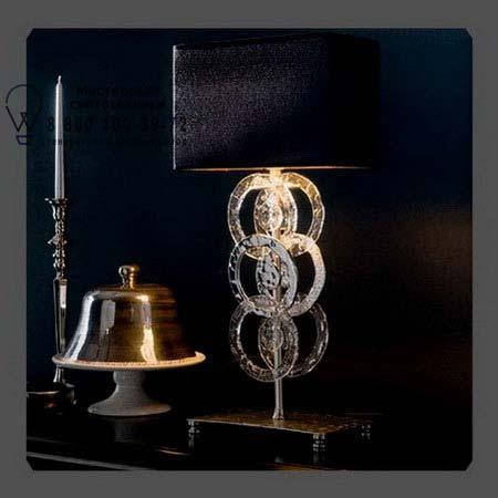 Eurolampart 2375/01BA настольная лампа RINGS 2375/01BA серебристо-черный