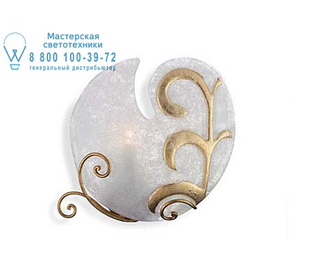 PITTI 2398/01AP бело-золотой, бра Eurolampart 2398/01AP