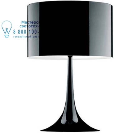 SPUN LIGHT T2 ECO Черный, настольная лампа Flos F6615030