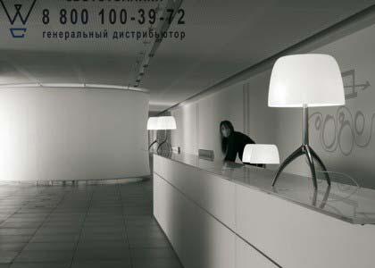 Foscarini 026001 25 D настольная лампа LUMIERE 05 большой светильник с диммером алюминий/серый