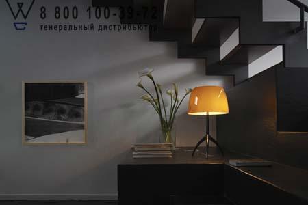Foscarini 026001 50 D настольная лампа LUMIERE 05 большой светильник с диммером алюминий/слонова