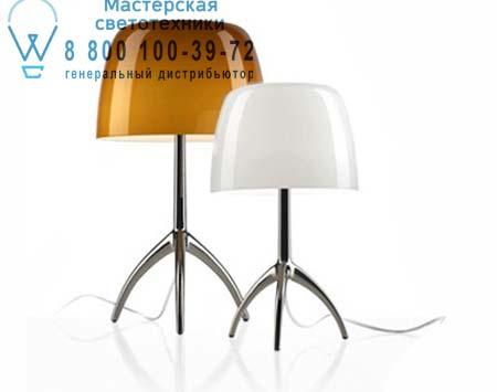 Foscarini 026011 52 настольная лампа LUMIERE 05 большой светильник черный хром/янтарный