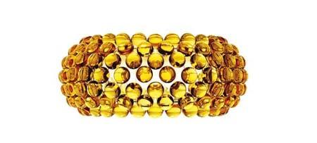 Foscarini 138005 52 бра CABOCHE средний желто-золотой