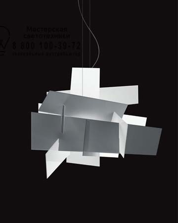 BIG BANG H.5 m (halogen R7s) белый, подвесной светильник Foscarini 151007 10SP5