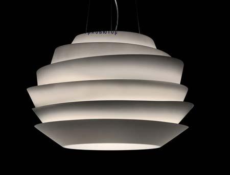 Foscarini 181007FSP5 10 подвесной светильник LE SOLEIL (Fluorescent) Белый Высота 5 метров