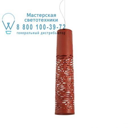 Foscarini 182017 63 подвесной светильник TRESS средний красный светильник