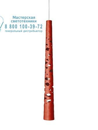 Foscarini 182047SP5 63 подвесной светильник TRESS STILO красный H. 5 m