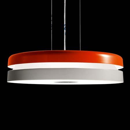 TORIC S оранжево-белый, подвесной светильник Kundalini K956SBAEU