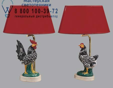 460 Lucienne Monique 460 с черно-белым петухом или курицей