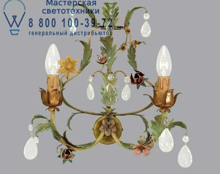 Lucienne Monique 900/2 бра 900/2 с цветами и стеклянными кристаллами