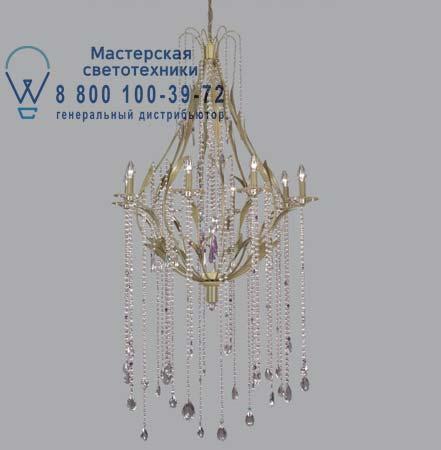GL 16/M со стеклянными жемчужинами на цепи и кристаллами сваровски, люстра Lucienne Monique GL 1