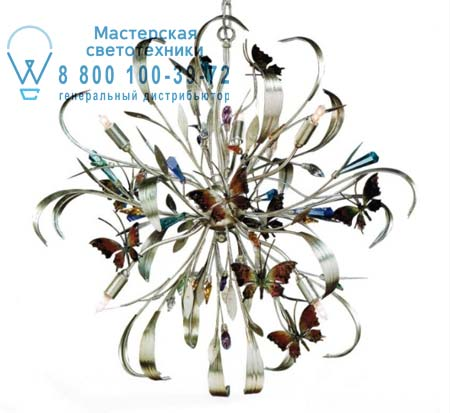 GN 27 с бабочками и кристаллами сваровски, люстра Lucienne Monique GN 27