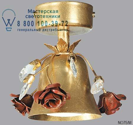 NO 75/M с розами и кристаллами сваровски, потолочная люстра Lucienne Monique NO 75/M