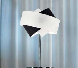 Tourbillon C 9632.30 белый/черный, настольная лампа Panzeri C 9632.30 W/B