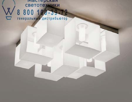 P 9033 - 9 - W/B потолочный светильник Panzeri