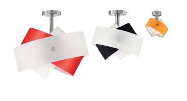 Tourbillon P 9632.45 белый/красный, потолочный светильник Panzeri P 9632.45 W/R
