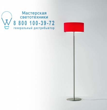 CPL F7 опаловое красное стекло/никель, торшер Prandina 1082000410206