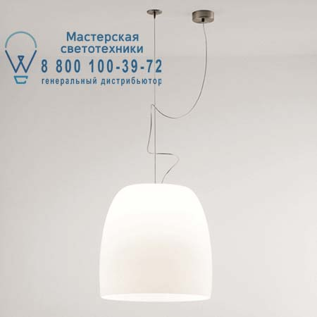 1283000110201 Prandina NOTTE S3 опаловое белое стекло/никель