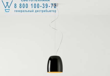 Prandina 1283000110259 подвесной светильник NOTTE S3 черный/золотой внутри никель