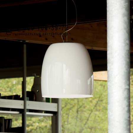 Prandina 1283000610101 NOTTE S7 опаловое белое стекло/хром