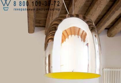 Prandina 1283000610211 подвесной светильник NOTTE S7 зеркальный/желтый внутри никель
