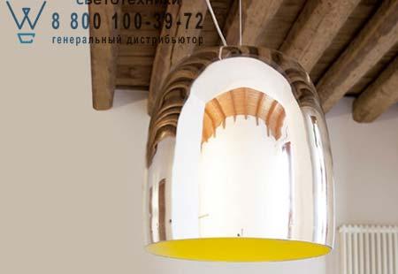 Prandina 1283001010111 подвесной светильник NOTTE S1 зеркальный/желтый внутри